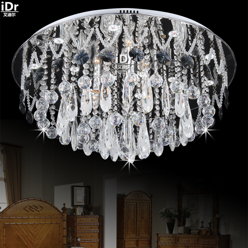 Art Deco Led Lights Round The Living Room Lamp Bedroom Study Crystal Lighting Low