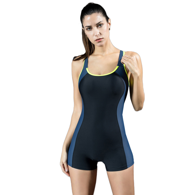 f7d39527955 Women Sports One Piece Swimsuit 2019 Sexy One Piece Swimsuit Swimwear Shorts  Backless Summer Beach Bathing Suit Swimming Suit