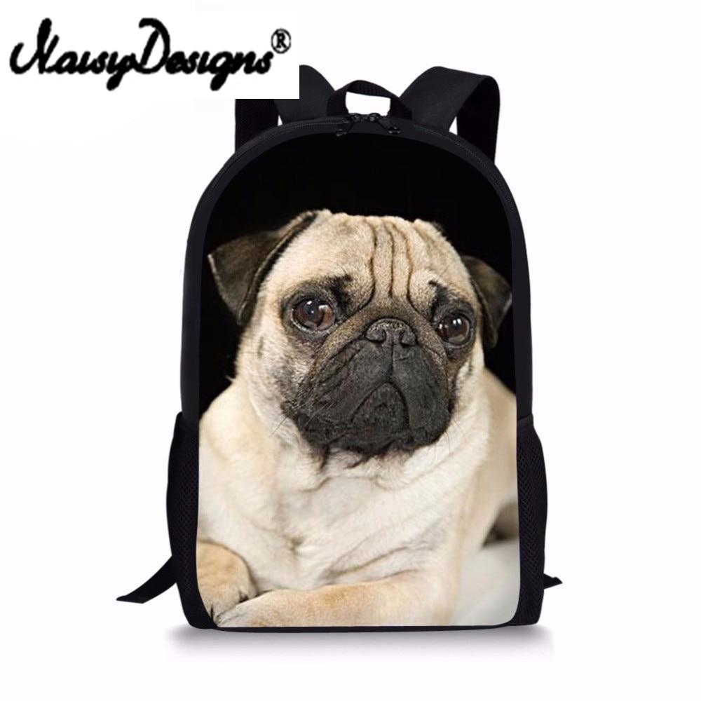 Cute Pug Backpack France Bulldog Pattern Children Backpacks for Girls Boys School Bag Kawaii Rucksack Teens Mochilas