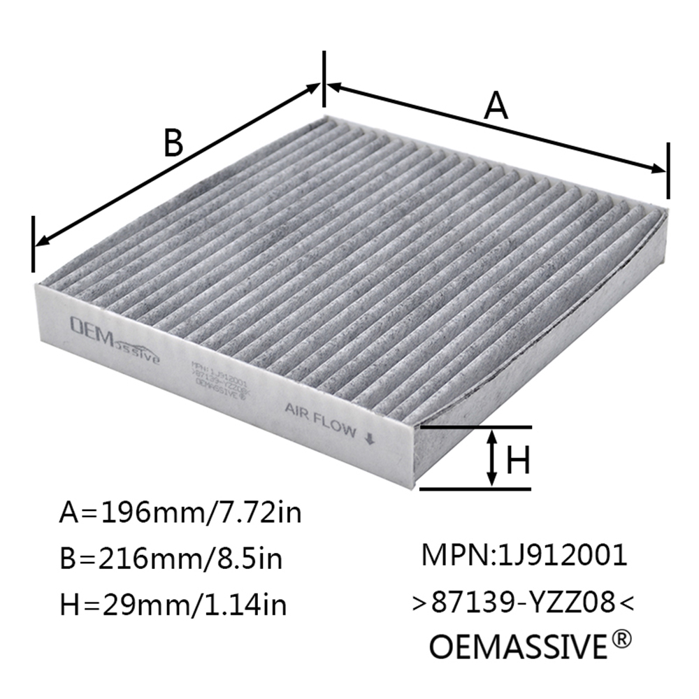 Image 4 - Car Pollen Cabin Air Filter 87139 YZZ08 87139 30070 87139 07010 For Toyota Auris Avensis Camry Corolla Hilux RAV4 Prius Yaris-in Air Filters from Automobiles & Motorcycles