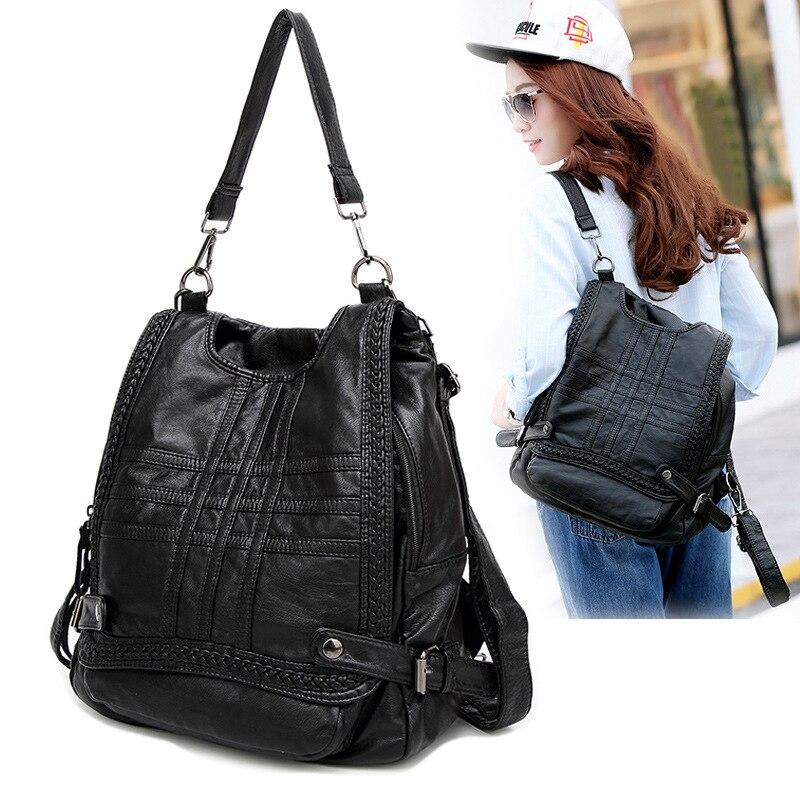 100% Genuine leather Women Backpack Designer Female Backpacks Students School Bags Fashion Genuine Leather Travel Backpack