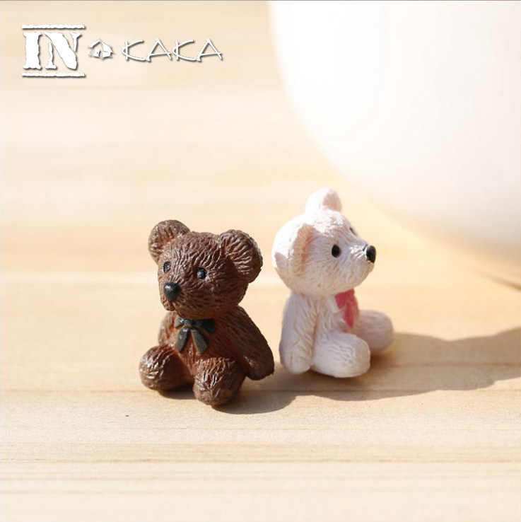 Home Micro Mini Garden Decor Figurines Cute Mini Teddy Bears Animal Action Figures Toys Succulents DIY Accessories Decoration