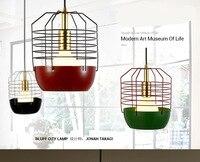 Новый современный минималистский моды спальня исследование лампы ресторан бар люстра лампа железная сетка алюминия