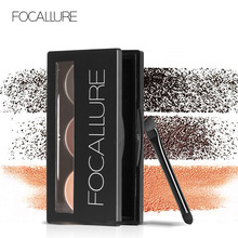 FOCALLURE Eyebrow Powder Makeup Palette 3 colors kit Waterproof  long lasting Cosmetic with brush