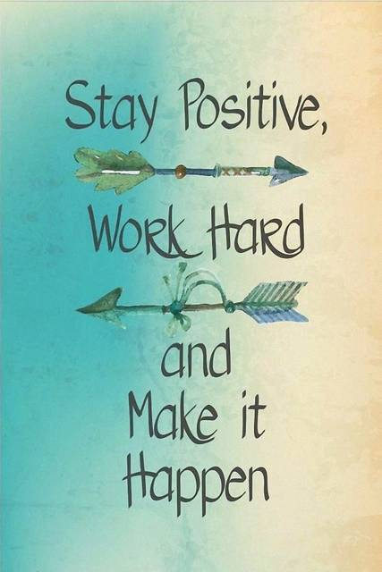 Make It Happen >> Us 4 05 19 Off Stay Positive Work Hard And Make It Happen Inspirational Motivational Quotes Art Wall Frame Poster Silk Frabric Art Printing In