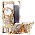 Kisscase bling amor diamante case para iphone 5 5s se 6 6 s 6 além de 6 s Mais Rígido PC Tampa Traseira Do Telefone Móvel Feminino Bonito Casos Armadura