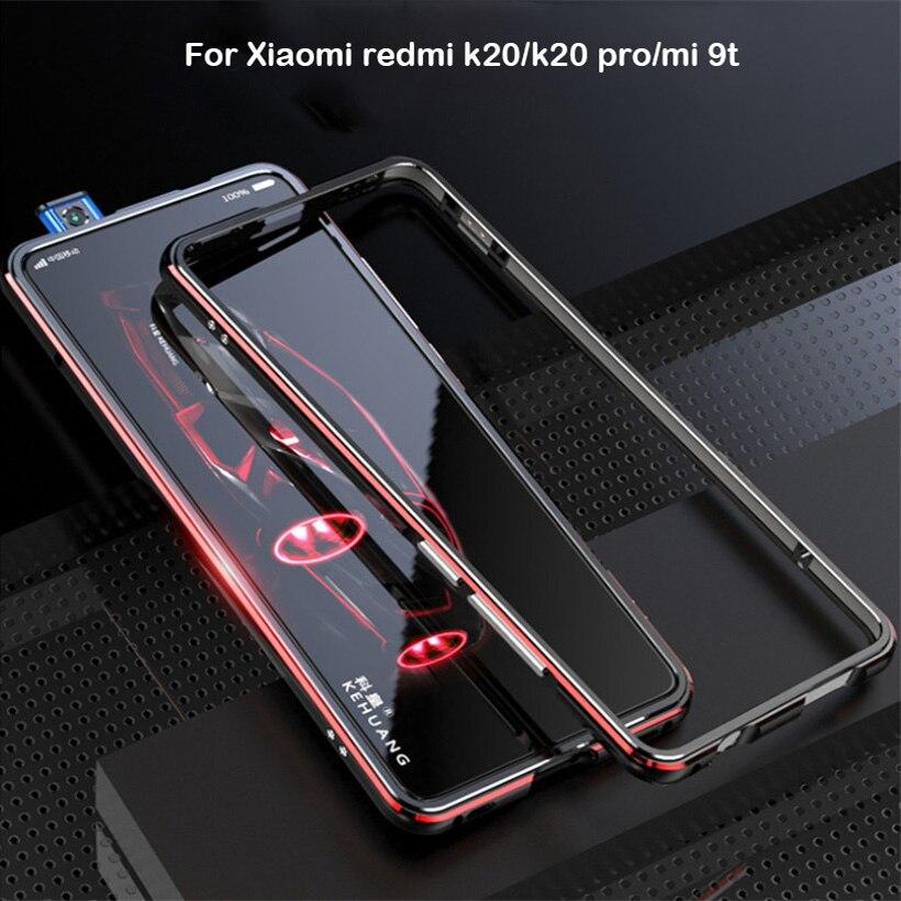 Für Xiao mi Red mi K20 Pro Fall Metall Rahmen Doppel Farbe Alu mi num Stoßfänger Schützen Abdeckung für Xiao mi Rot mi K20 mi 9 T Pro Fall
