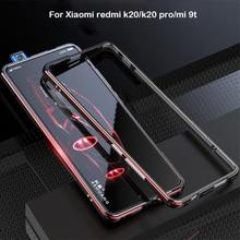 ل Xiao mi الأحمر mi K20 برو إطار معدني مزدوج اللون مصد من الألومنيوم حماية جراب هاتف شاومي الأحمر mi K20 mi 9T برو