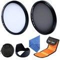 67mm Polarizer CPL + 67mm UV Filter Kit + Lens Tulip Hood + Filter Pouch For Nikon D7000 D5100 D90 D40 D60 D50 D70+Lens Cap