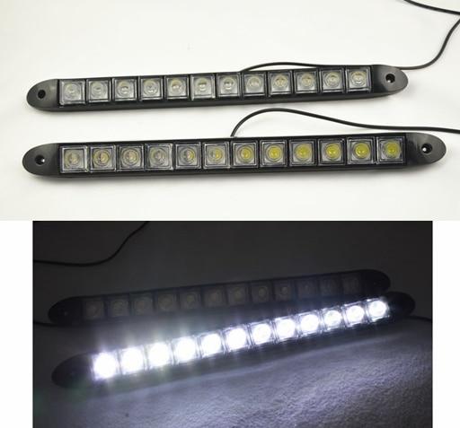Acheter Haute Puissance Feux Diurnes 2x12 LED DRL Daylight Lampe de Tête De Voiture Auto 12 V de car auto fiable fournisseurs