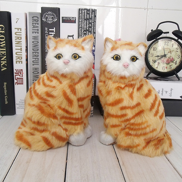Meowth gato amarelo animais gatos de brinquedo pet gato de pelúcia brinquedos das crianças presentes ornamentos modelo boneca de presente de aniversário animais de Estimação Eletrônicos