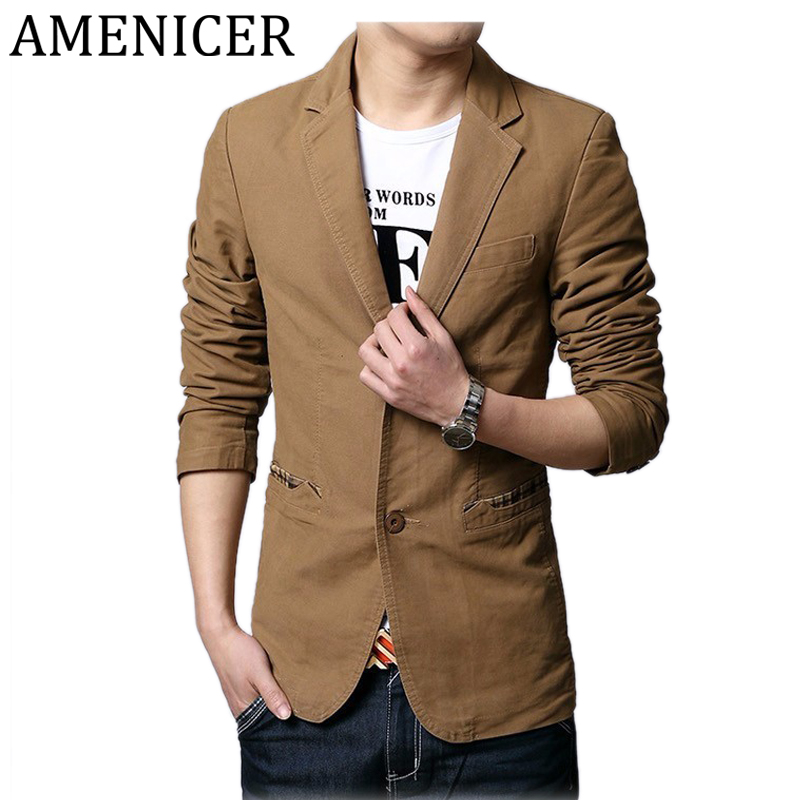 Aliexpress.com : Buy New Fashion Men Brand Casual Blazers Single ...
