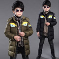 Winter 2016 toddler boys kids clothes outfit clothes jackets long jacket coat for boy children long brand hooded overcoat parkas