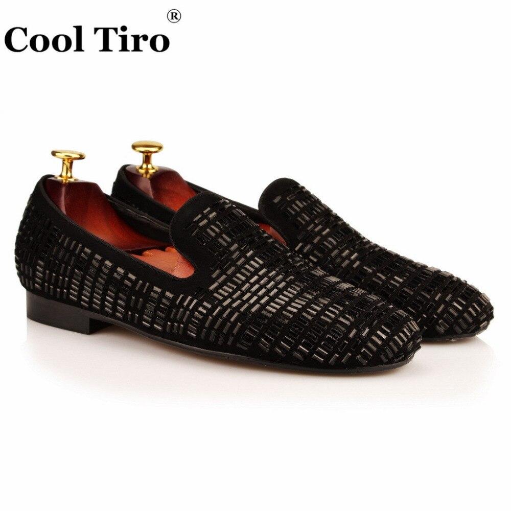 En Strass Cristal Pantoufles Véritable Cool Chaussures De Cuir Fumer Partie silver Mariage or Casual Appartements Hommes Tiro Noir Mocassins Robe Carré multi Tcl3uJK1F5