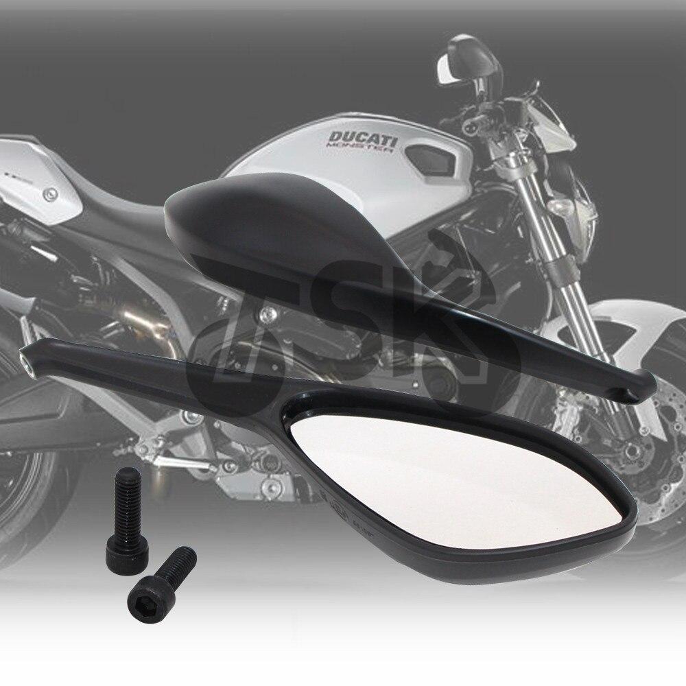 Lato posteriore Specchi Retrovisori Per DUCATI MONSTER 696 795 796 1100/S/EVO Moto Accessori Brand New