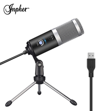 Inpher AK-5 Metal USB Condenser Recording Microphone for Laptop computer conferencing chat Mic Vocals Voice Over
