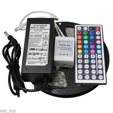 2M/3M/5M/10M IP20 LED Strips Set RGB SMD 5050 30/60 LED/m 12W/18W/24W/30W/36W60W/120W 44key 12V Adapter Remote Controller
