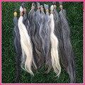 1kg 100% unprocessed natural blonde gray human hair bulk 40-70cm nature Russian Grey Human hair
