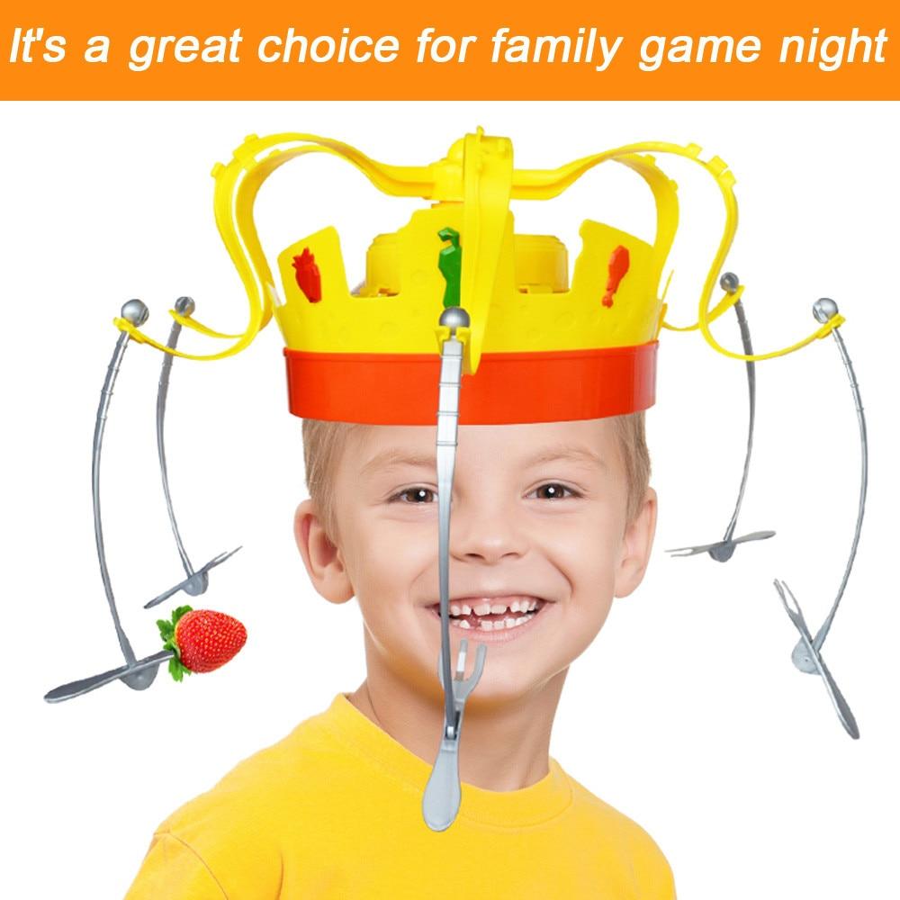 2018 spielzeug kinder Familie Roman Chow Crown Spiel Musical Spinning Crown Snacks Lebensmittel Partei Spielzeug Kind lustige Familie Top Geschenk