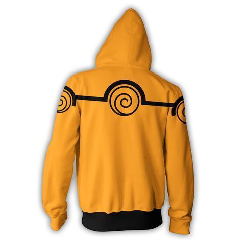 Naruto Chakra Mode Zip Up Hoodie