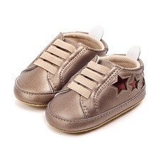 Newborn Baby Soft Spring Autumn Baby Shoes Low Five Stars Casual Baby