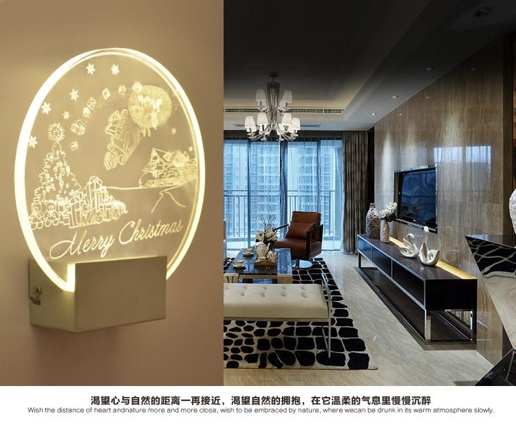 Acrylic led wall lamp modern creative living room bedside bedroom study aisle Chinese corridor led wall light ZA830543 modern minimalist 9w led acrylic circular wall lights white living room bedroom bedside aisle creative ceiling lamp