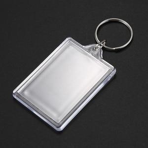 Image 3 - 100 pièces porte clés Transparent avec espace pour les photos ou les images de 90*40mm porte clés de photo