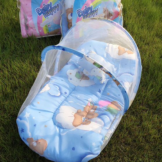 Детские Москитная сетка с коврик подушка детская кровать сетей портативный складной кровати сетки детей сеток ...