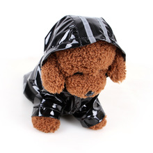 1PC M L Dog Spring and Summer Clothes for Small Dogs PU Reflective Pet Raincoats Hooded Windproof Home Suplies