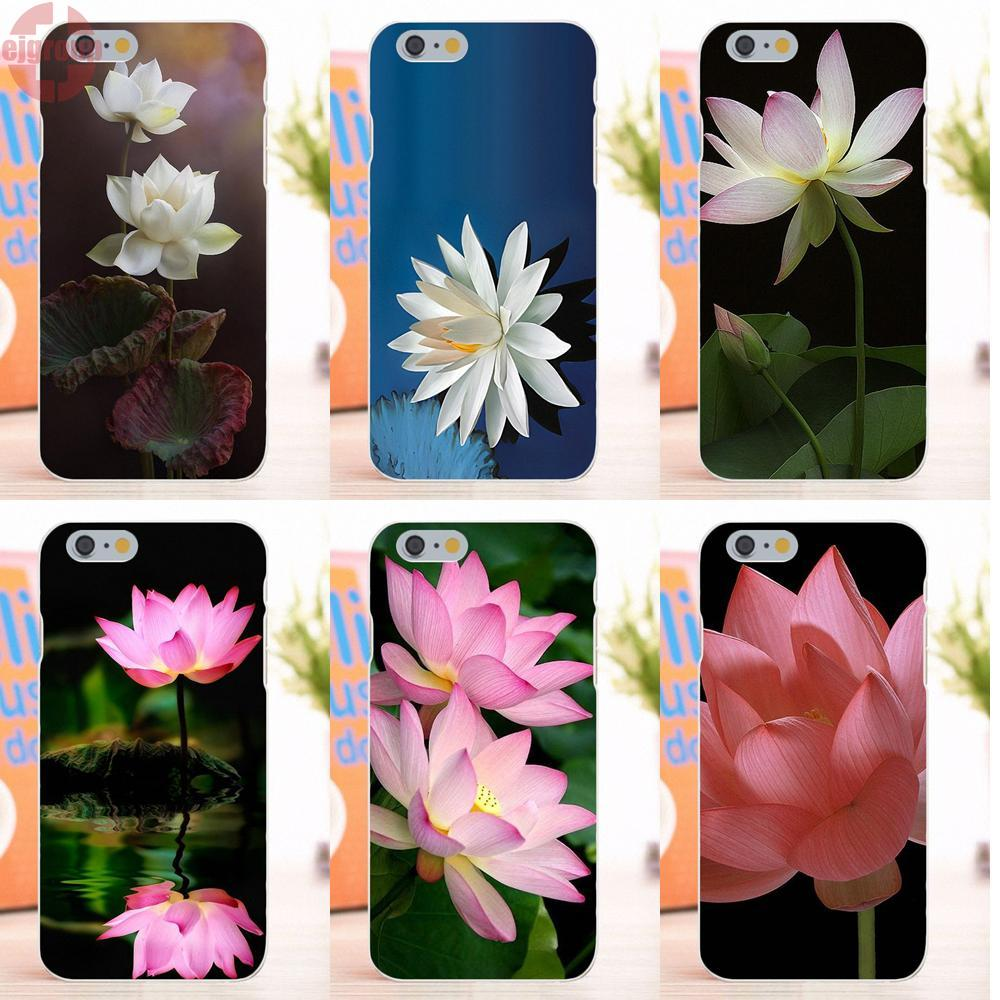 Abstract lotus flower promotion shop for promotional abstract ejgroup pink white lotus flower soft tpu silicon protective for apple iphone 6 6s 47 inch dhlflorist Gallery