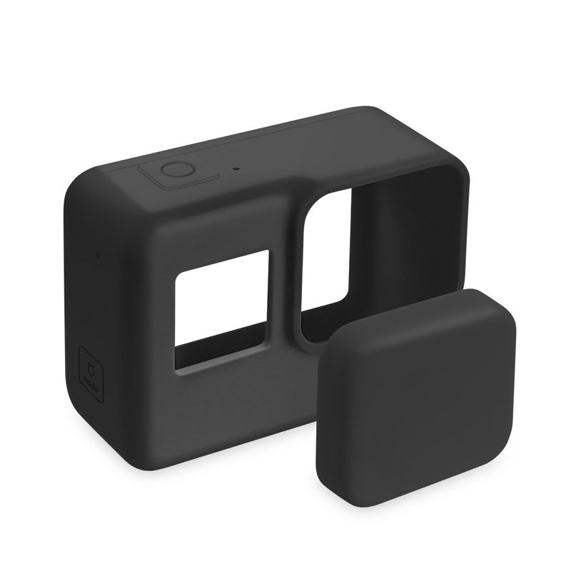 For Go Pro Accessories Action Camera Case Protective Silicone Case Skin +Lens Cap Cover For GoPro Hero 5 6 7 Black Hero Camera