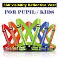 Chaleco de seguridad reflectante de cinturón para chico niño niños alumno de seguridad reflectante chaleco cinturón para correr al aire libre correr cyclin