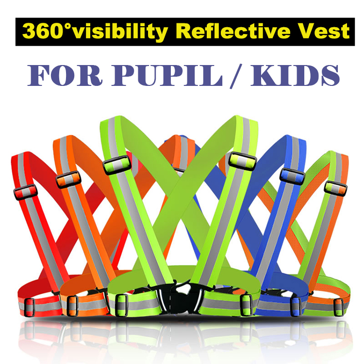 Reflective Safety Vest Belt For Kid Child Children Pupil Security Reflective Waistcoat Belt  For Outdoor Running Jogging Cyclin