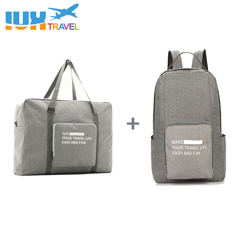IUX Men Travel Bags WaterProof Nylon Folding laptop