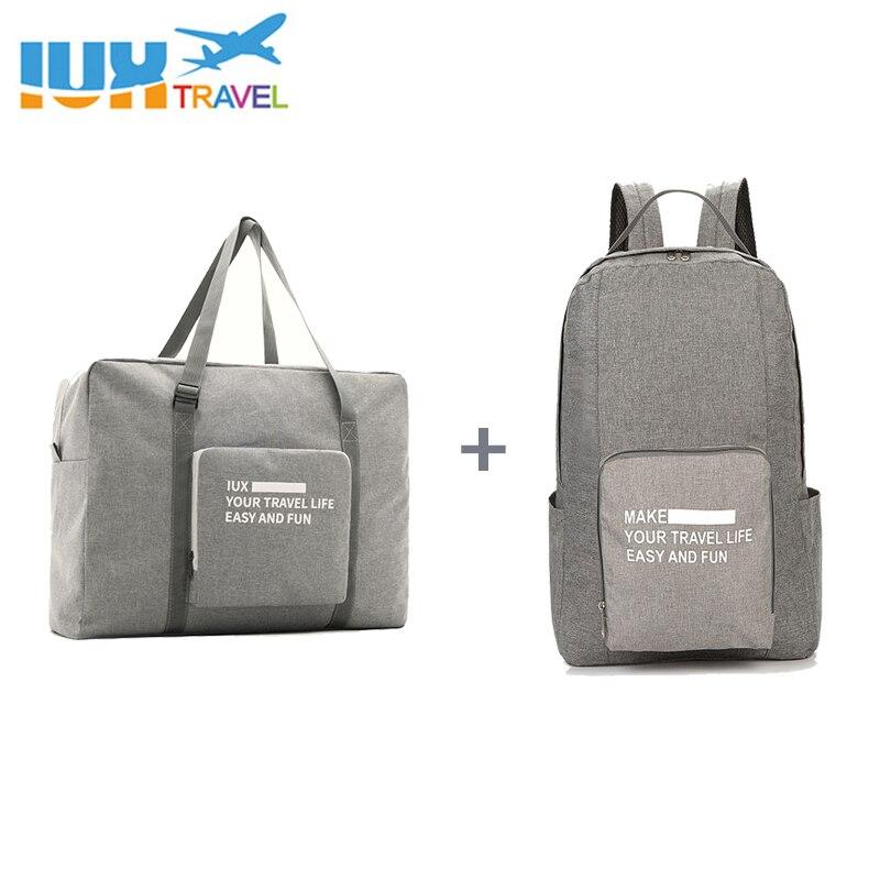 Los hombres de viaje bolsas de Nylon impermeable plegable bolsa de ordenador portátil de gran capacidad bolso de equipaje bolsas de viaje portátil bolsos de las mujeres