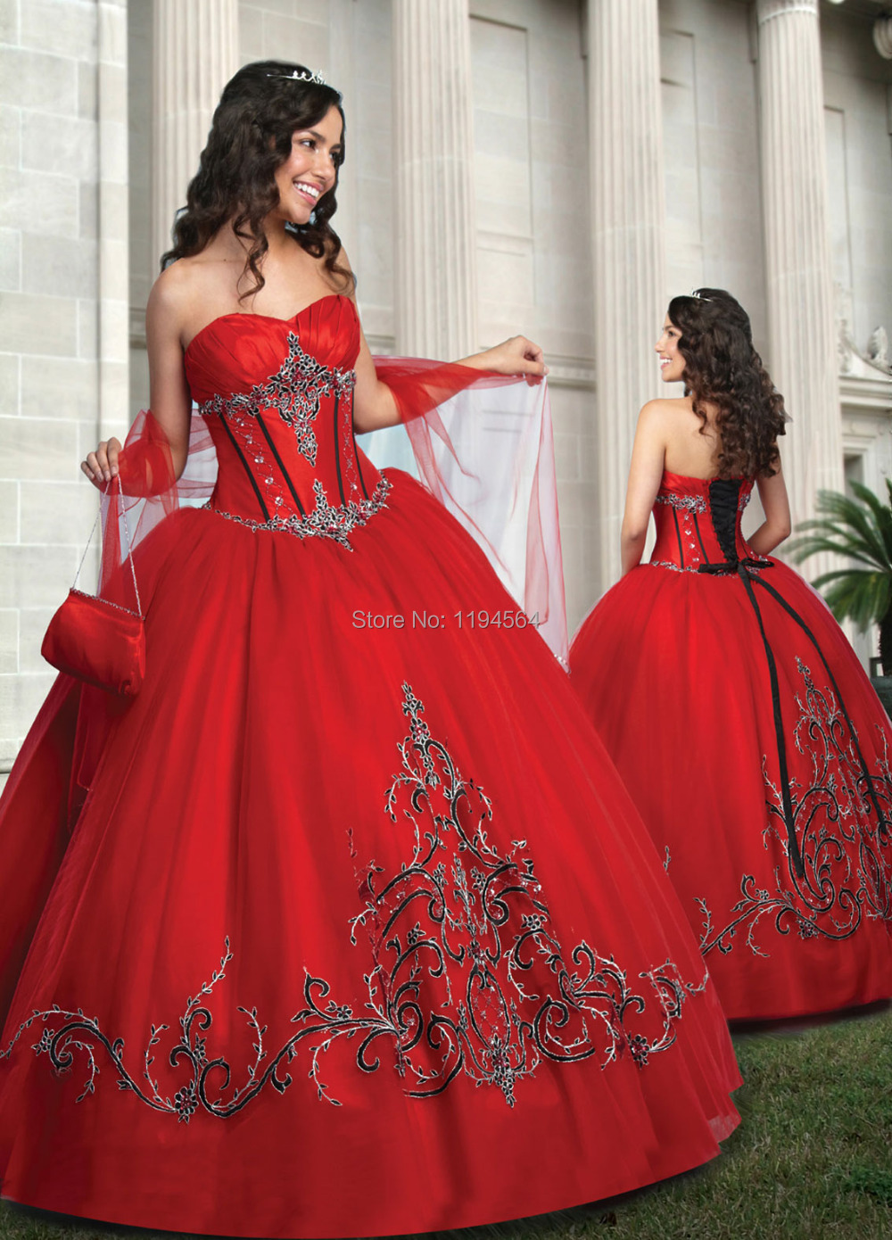 Dress up for masquerade party - Vintage Embroidery Quinceanera Dresses 2015 Masquerade Ball Gown Organza Sweetheart Off The Shoulder Low Back Bq256