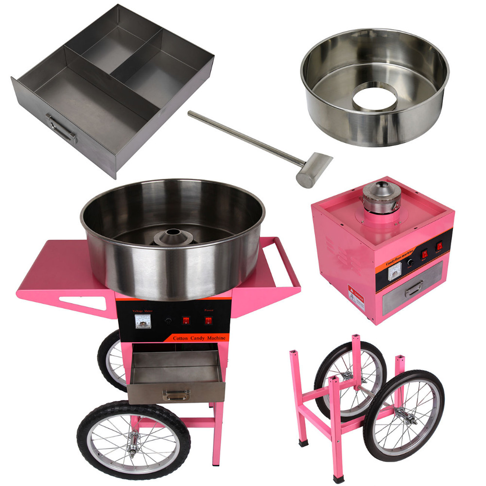 Electric Cotton Candy Machine Candy Floss Maker with Cart Cover As Gift Festival Party Supplies electric cotton candy machine cotton floss machine