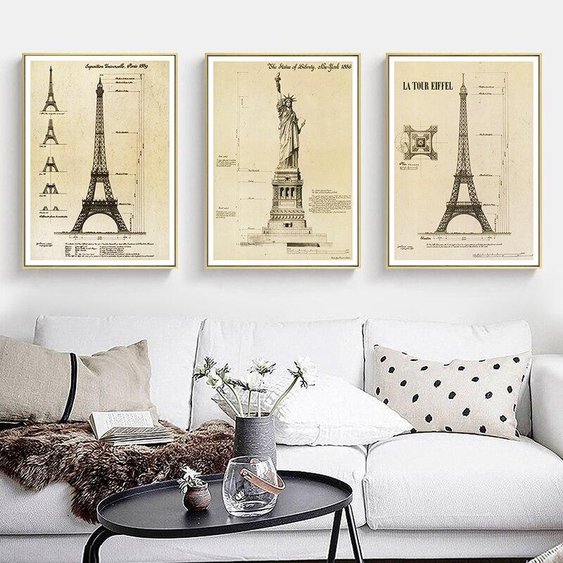 Настенная Картина на холсте с изображением Эйфелевой башни