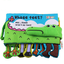 SLKMSWMDJ Early Education Puzzle Cloth Book Crocodile Foot Cloth Book Baby Environmental Protection Soft Scene Cloth Book Toys