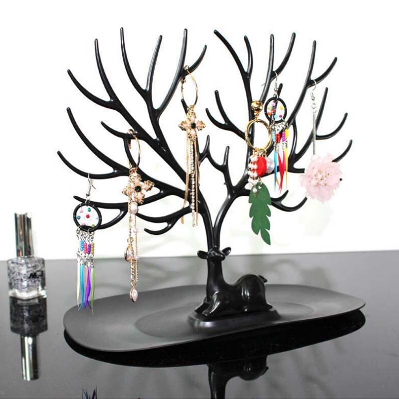 2019 Mordoa Jwelry Organizer Necklace Earring Deer Stand Display Jewelry Holder Show Rack Display Key Charms Holder Storage Rack