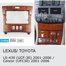 Автомобильная панель радиосвязи для Lexus LS-430(UCF30); Toyota Celsior(UFC30) 2001-2006 Dash Kit Facia Plate Adapter Cover Bezel Trim