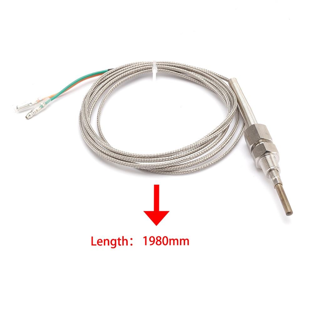 hight resolution of 2m egt sensor k type thermocouple probe exhaust gas temperature sensor threads exhaust temp bs high quality egt temp sensor tags
