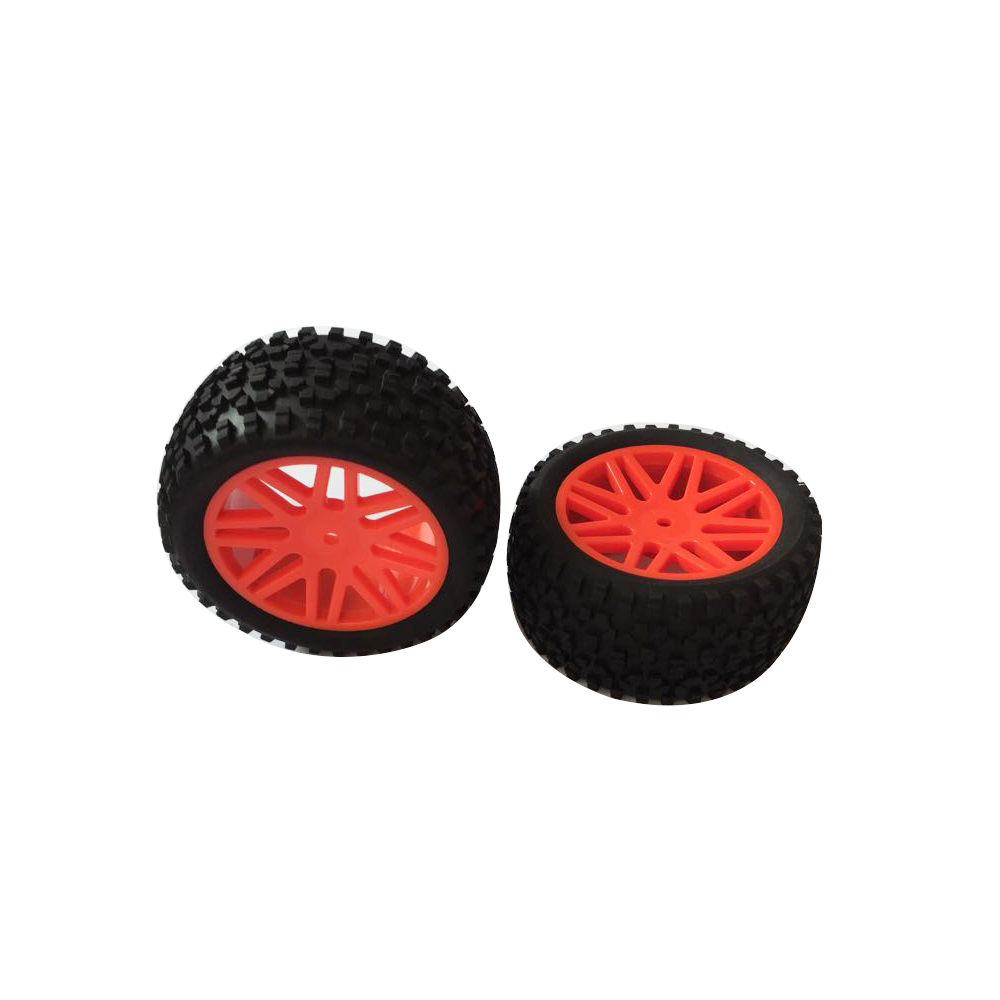 2pcs Rc Rear Wheels 1/10 Off Road Car Buggy Rim and Rubber Black Wheel Rims HUB HEX 12mm quantum s top road hub ql z52f rear hub ql z91r