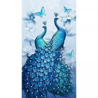 5d diy diamond painting full round,wedding decoration home,wall sticker,paint with diamond embroidery,special shaped,peacocks