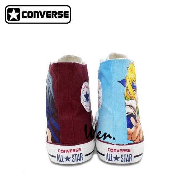 Minato Yondaime / Itachi Uchiha Hand-Painted Converse Sneakers