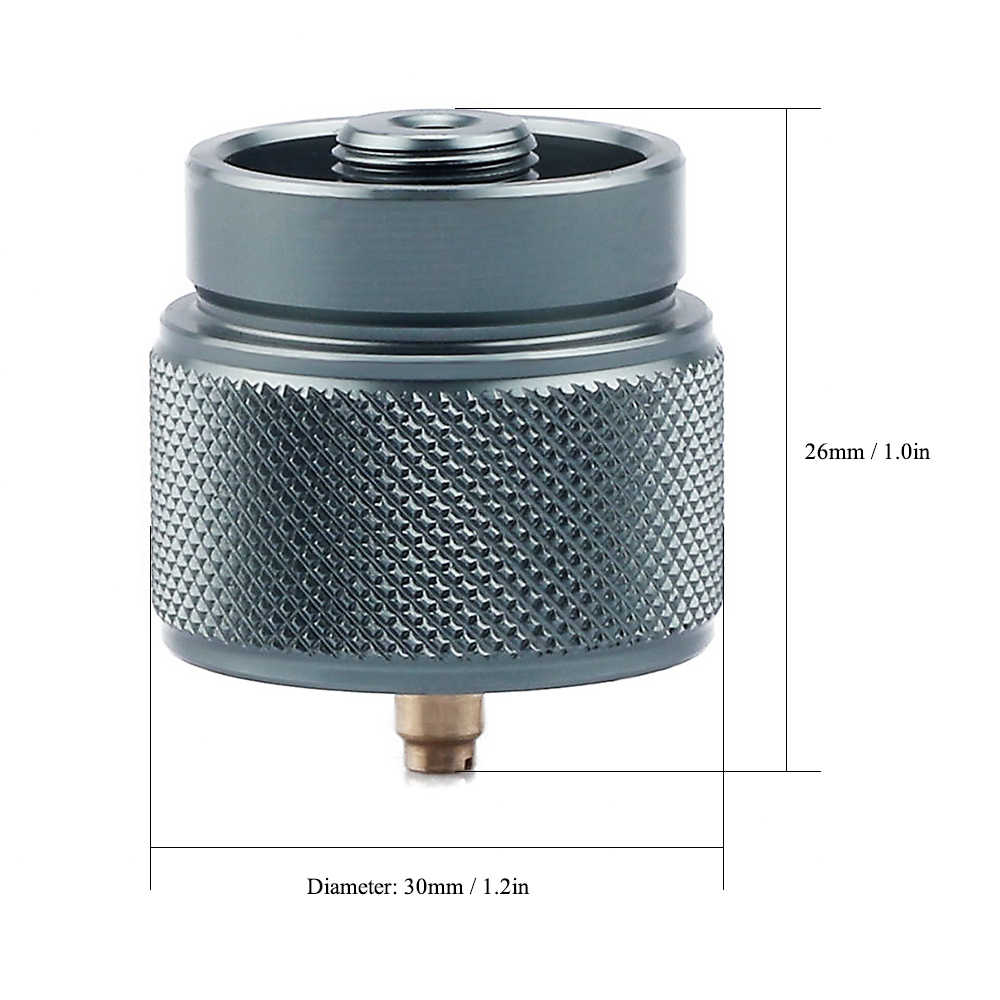 Outdoor Camping Gas Tank Valv-e Adapter Refillable Stove Cylinder Connector Tool hudiemm0B Gas Tank Adapter