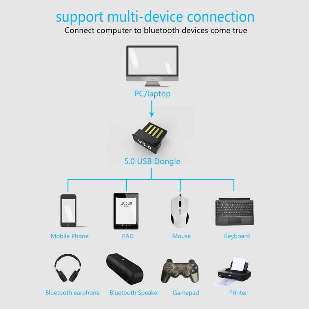 Mini USB Bluetooth Nirkabel Adaptor Komputer Audio Peluncuran Converter Dongle untuk PC Laptop Desktop Stereo Musik Keyboard Mouse