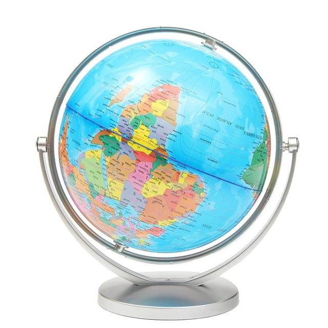 modern 20cm english world map world globe rotating map of earth home office decor geography figurines