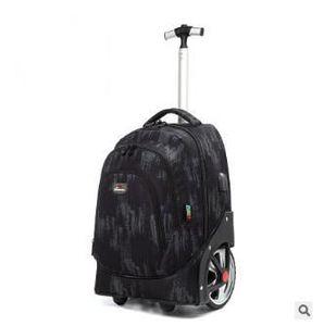 Image 5 - עגלת תרמילי שקיות עבור בני נוער 18 אינץ גלגלי בית ספר תרמיל עבור בנות תרמיל על גלגלי מזוודות ילדים מתגלגל שקיות