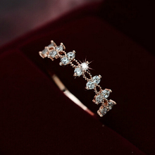 2017 Decalite CZ Lace Flower Ring Gold Color Women Fashion Style Knuckle Ring Midi Finger Rings Bijoux Bagues Femme Jewelry